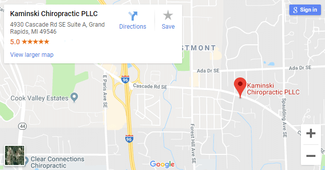 Map of Grand Rapids Chiropractors